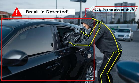 car break-in detected