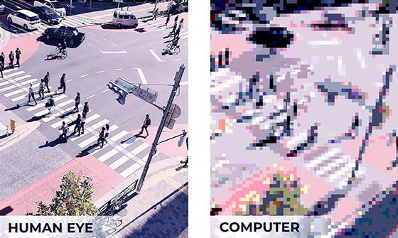 human eye vs computer